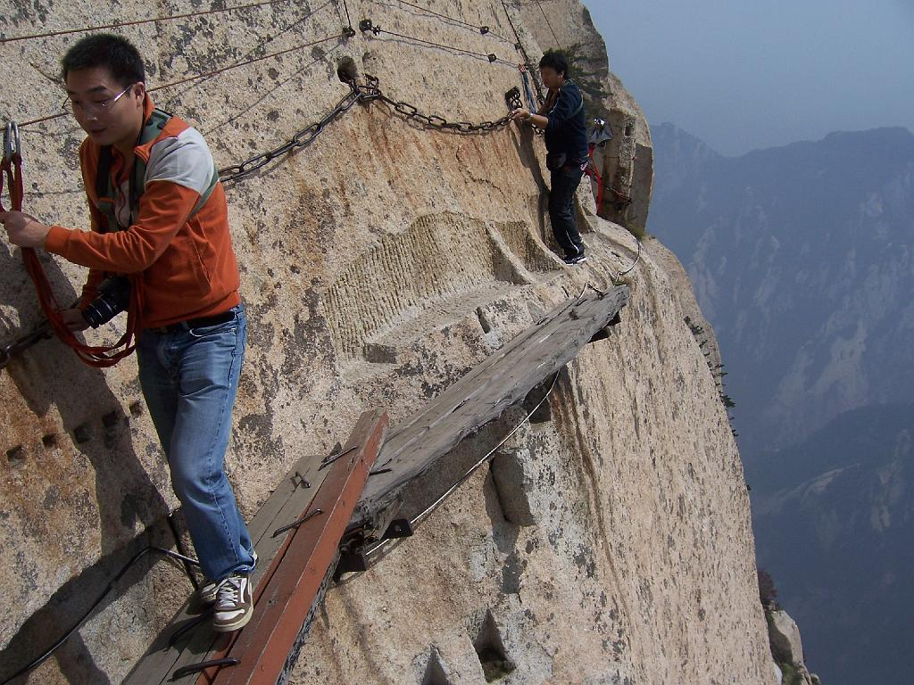 Hua Shan The Dangerous Path In The World Microtravelling