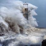 Iron lighthouse Whiteford UK