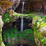 The Gorge of the Three bridges in Lebanon that turns into a waterfall when the snow melts