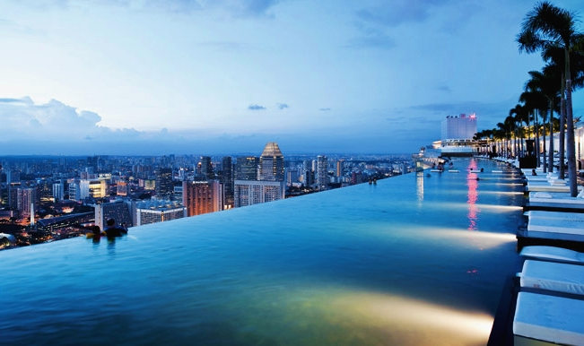 Singapore Hotel With Infinity Pool On Rooftop Image Singapore Sands Infinity Pool
